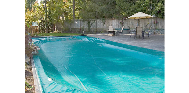 shaded outdoor pool